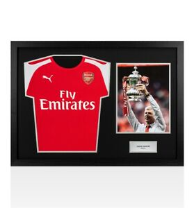 buy online 96ee8 30c58 Details about UNSIGNED Arsene Wenger Arsenal Shirt - Tribute Frame  Autograph Jersey
