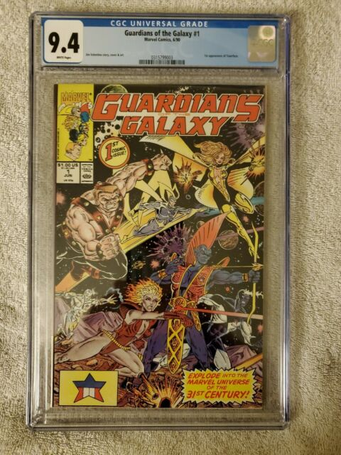 Guardians of the Galaxy #1 cgc 9.4 (Jun 1990, Marvel)