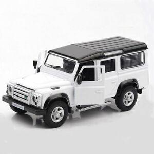 Defender-Off-road-1-36-Die-Cast-Modellauto-Auto-Spielzeug-Model-Sammlung-Weiss