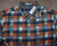 Tommy Bahama $168 Burnt Copper Plaid Tropic Of Flannel Shirt Men's 2xb Big