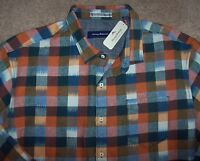Tommy Bahama $168 Burnt Copper Plaid Tropic Of Flannel Shirt Men's 3xt Tall