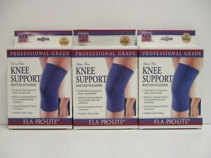 b0569b4924 3 x FLA PRO LITE LATEX-FREE KNEE SUPPORT KNITTED PULLOVER SMALL ...