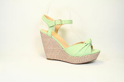 Summer Single Band Bow Peep Toe Platform Wedge Sandal Shoes 6 Color NEW All Size