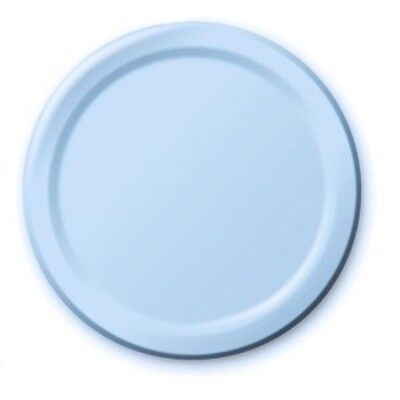"""BABY BLUE 7"""" Cake Paper PLATES Birthday Christening Boys Party Tableware"""