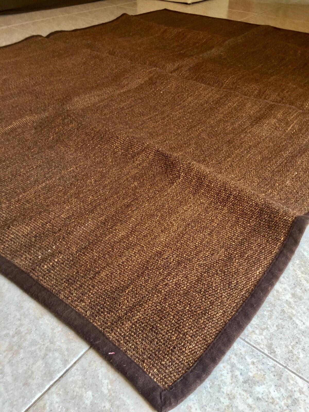 Tappeto, tessuto intrecciato piatto, Marroneee, 255 x 212 cm