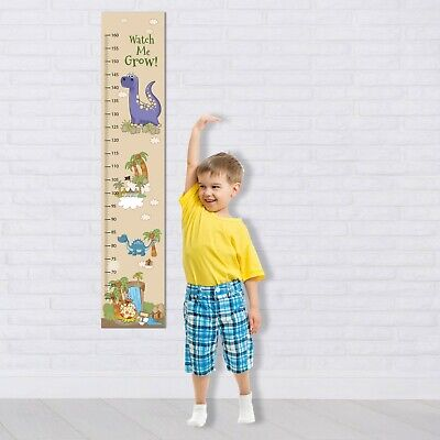 Dinosaur Personalized Canvas Growth Chart for Kids