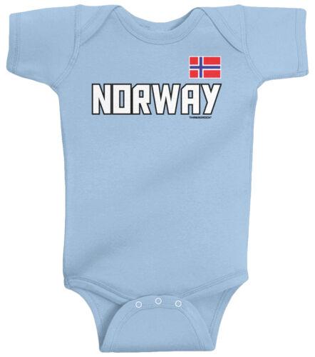 Threadrock Baby Norway National Team Infant Bodysuit Norwegian Country Pride