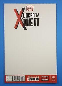 The-Uncanny-X-MEN-Vol-3-1-Blank-Sketch-Cover-Variant-Marvel-Comics-2013-NM