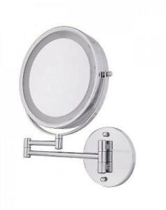 1x 10x Lighted Makeup Mirror Wall Mount Swivel Magnifying Cosmetic