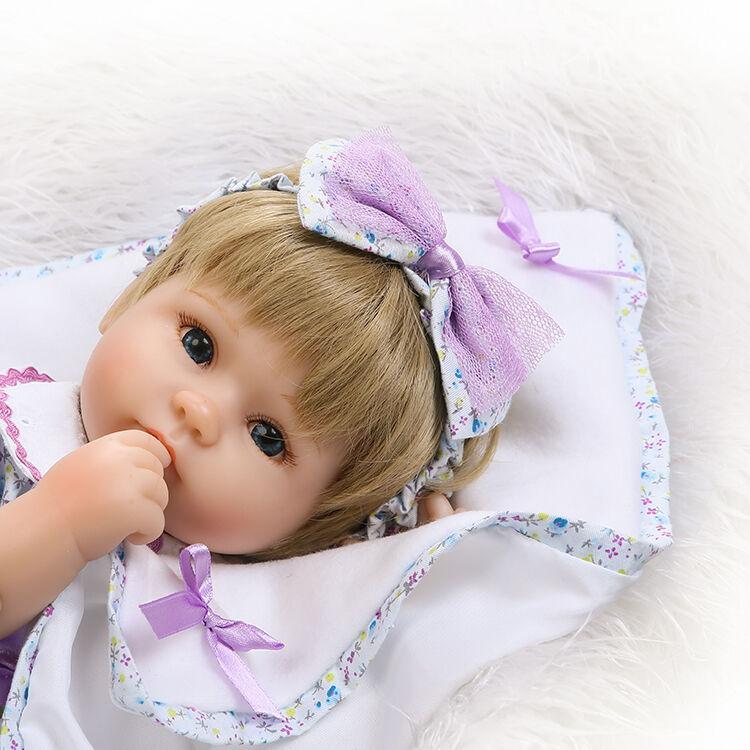 Muñeca Reborn Bebé Niña Niña Niña 16' 'realista de vinilo Hecho a Mano Muñecas del bebé recién nacido   disfruta ahorrando 30-50% de descuento