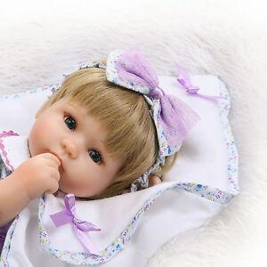 16'' Reborn Baby Girl Doll Realistic Vinyl Handmade Baby Dolls Newborn Lifelike