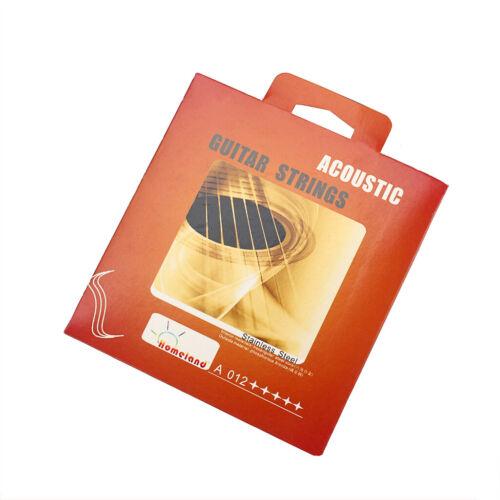 6 x Akustische Gitarrensaiten 012 016 024 032 042 053 Aus Kupfer