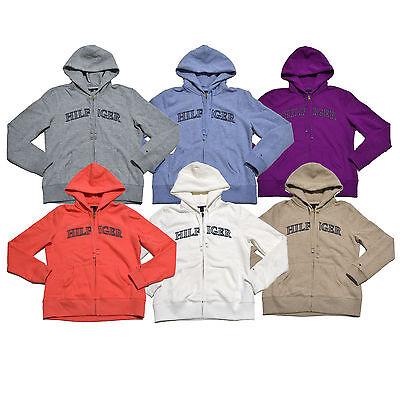 Tommy Hilfiger Womens Hoodie Zip Up Sweater Graphic Fleece Sweatshirt V023