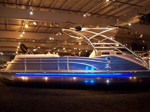 Image Is Loading 32ft Kit Pontoon Boat Led Under Deck