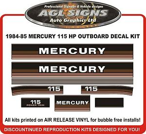 1984-1985-MERCURY-115-hp-Outboard-Decals-reproductions-also-90-hp