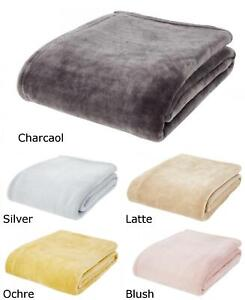 Catherine Lansfield New Extra Large Soft Raschel Velvet Throws or Cushion Covers