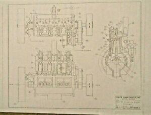 Cole-039-s-Power-Models-034-Holt-75-1915-Caterpillar-tractor-engine-034-drawing-set