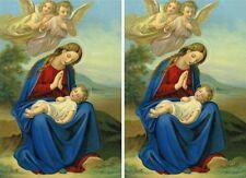 2x Heiligenbild Hl. Maria mit Jesuskind Mutter Gottes Postkartenformat HBP 5011
