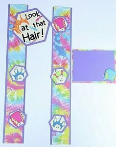Details About School Kids Scrapbooking Border Album Creative Premade Spirit Crazy Hair