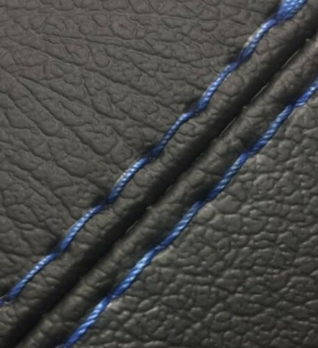 Center Console Armrest Real Leather Cover for Dodge Challenger 08-14 Blue Stitch
