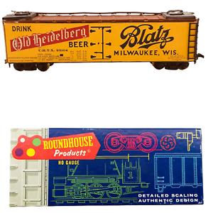 Roundhouse-HO-Gauge-Model-Train-Yellow-Blatz-Milwaukee-Drink-Old-Heidelberg-Beer