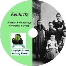 KENTUCKY - History & Genealogy -104 old Books on DVD - Ancestors, County, CD, KY