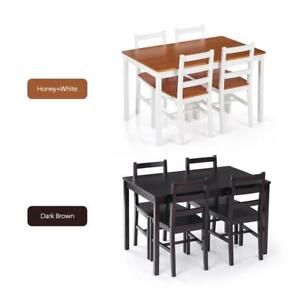 Image is loading Small-Dining-Table-Set-for-4-Kitchen-Chairs-  sc 1 st  eBay & Small Dining Table Set for 4 Kitchen Chairs Spaces Dinette Breakfast ...