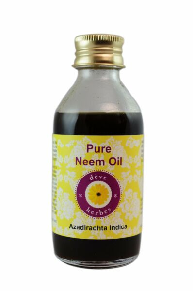 Pure Neem Oil Azadirachta indica Cold Pressed 100% Natural Uncut by deve herbes