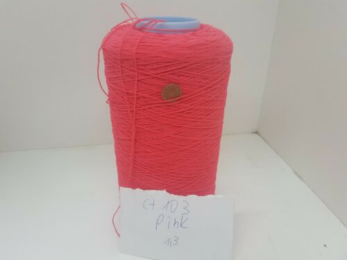 Hilado de tejer lana y mano afectadas porchenille de 1,3 kg 4.5 nm rosa PES Konecf103