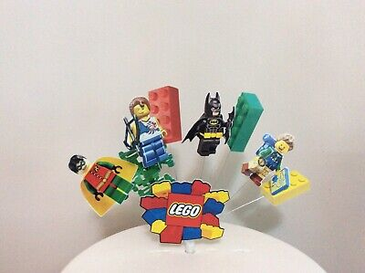 Remarkable Lego Birthday Cake Topper Lego Bricks And Characters Display Funny Birthday Cards Online Alyptdamsfinfo