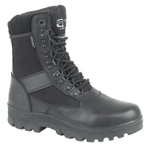 Da Uomo Esercito Taglia 3-13 Impermeabile Combat Esercito Uomo Militari Mod Pelle Nera + stoffa stivali a6db2a