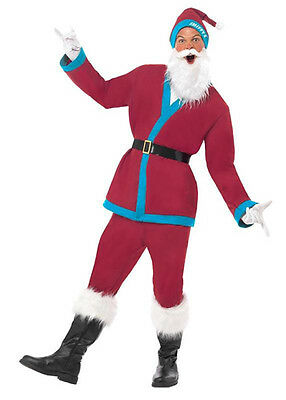 Claret With Blue Sports Santa Suit