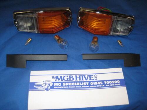 D2c Mg Nuevo Par Mgb R//b a C//b conversión alerón delantero los plintos y sidelamp Assy/'