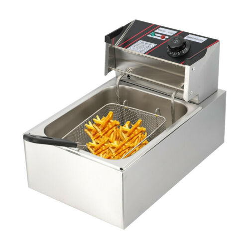 UK Commercial 10L Electric Deep Fryer Fat Chip Single Tank Stainless Steel 2500W
