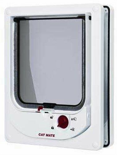 Cat Mate Electromagnetic Cat Flap White , New, Free Shipping