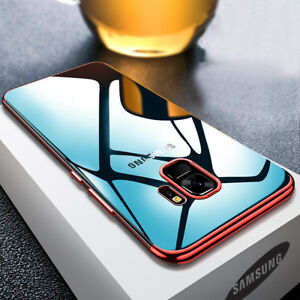For-Samsung-Galaxy-A6-A8-Plus-2018-Plating-Soft-Silicone-Hybrid-Clear-Case-Cover