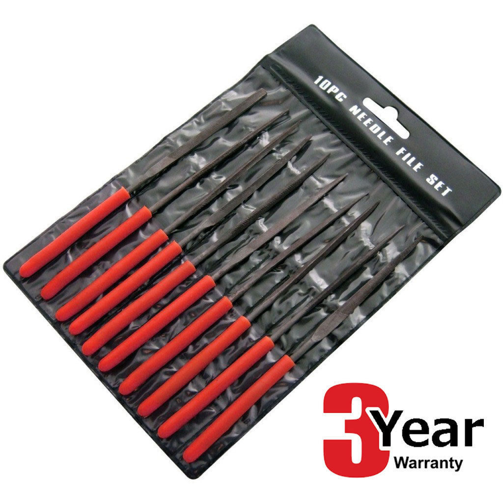 Am-Tech E1750 Needle File Set 10pc with Handle