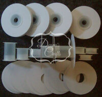 25 1.5 Empty Ribbon Spools Tubes Plastic With Or W/o Flanges Crafts Bobbins