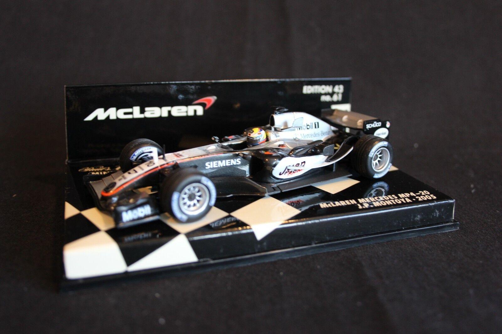 Minichamps McLaren Mercedes MP4-20 2005 1 43  10 Juan Pablo Montoya (COL)