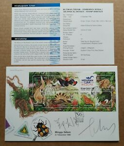 1996-Malaysia-Wildlife-Stamp-Week-1st-Series-MS-FDC-Designer-Signature-Lot-D