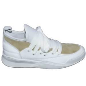Sneakers bassa made in italy art marcelo bicolore beige/bianco az0120 vera pelle