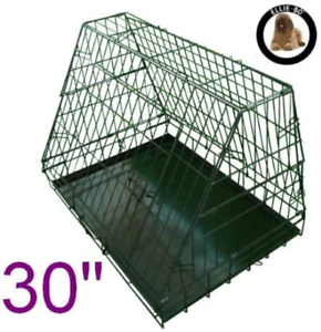 Ellie-Bo-Sloping-Puppy-Cage-Medium-30-inch-Black-Folding-Dog-Crate-with-Non-Chew