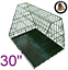 thumbnail 1 - Ellie-Bo-Sloping-Puppy-Cage-Medium-30-inch-Black-Folding-Dog-Crate-with-Non-Chew