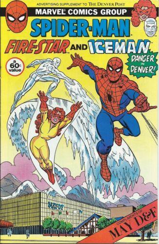 SPIDERMAN RARE GIVEAWAY PROMO FIRESTAR ICEMAN DANGER IN DENVER PROMOTIONAL VF