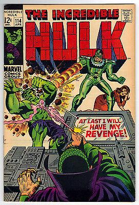 Incredible Hulk 114 (4/69) VF- condition Sandman Appearance Stan Lee Story