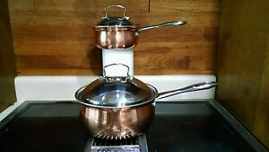 Belgique Copper Cookware 1qt And 3qt Set 10939 Ebay