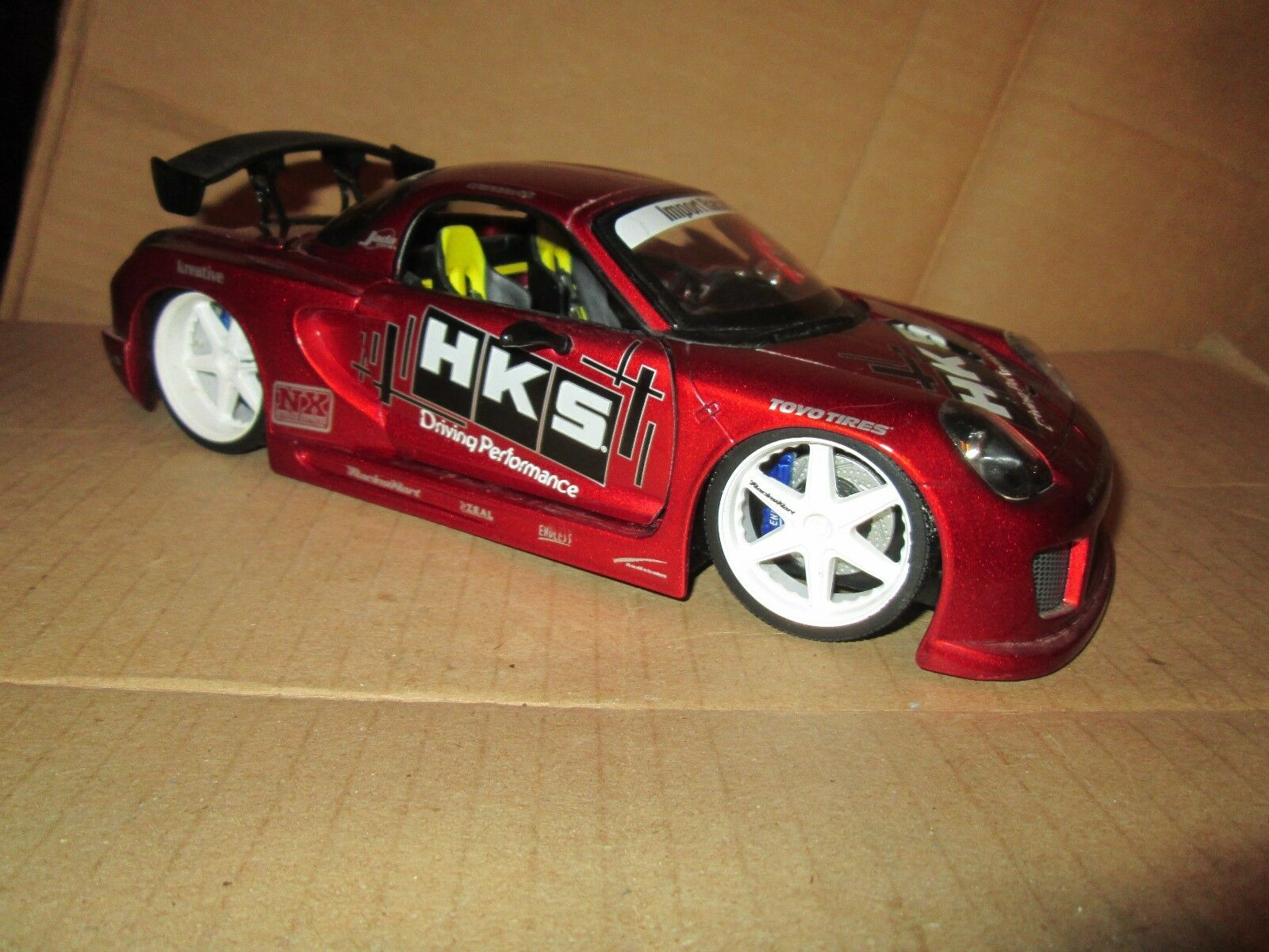 Toyota MR 2 Jada Import Racer 1 18 Scale tuners street Racing loose display