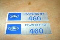Ford Powered By 460 Engine Valve Cover Decals Pair Blue Silver Mustang Torin