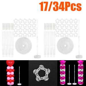 Plastique-Ballon-Arc-Colonne-Plate-Forme-avec-Base-Kits-Marriage-Fete-Deco-Chaud