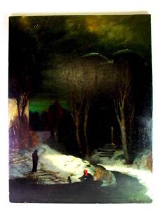 mysthisches-Gemaelde-um-1890-1900-Toteninsel-signiert